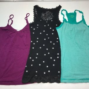Kirra and SO size small bundle of 3 tanks/camis